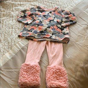 Fuzzy Leg Toddler Outfit